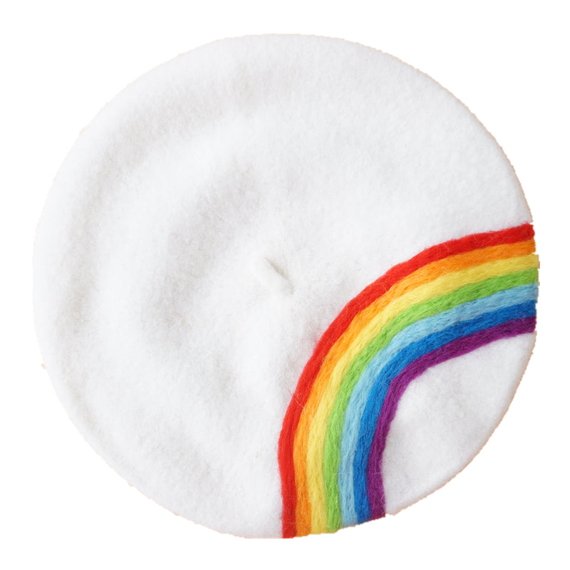 ''RAINBOW'' WHITE BERET BY51024