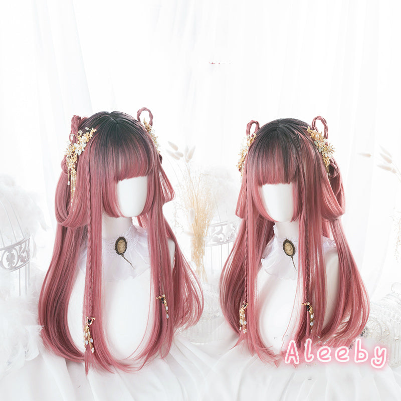 ''RESPBERRY'' HIME CUT LONG WIG BY31111