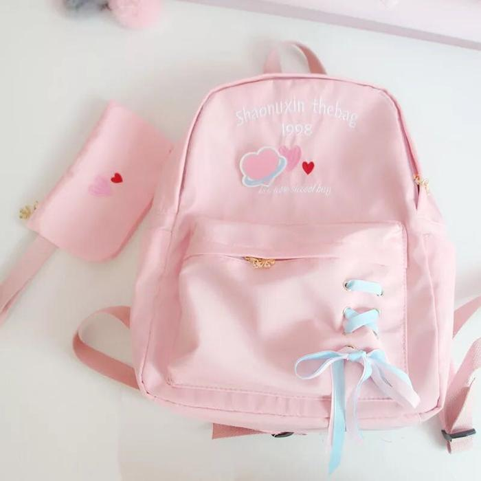 REVIEW FOR CHIC LOVE LETTER EMBROIDERY BACKPACK