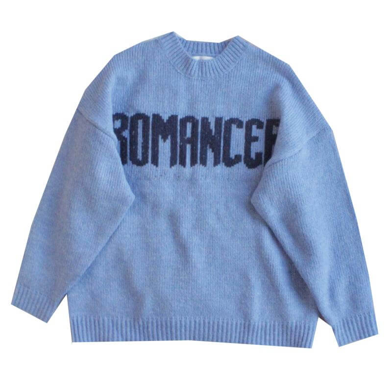 ''ROMANCER'' BLUE THICKEN SWEATER BY21171