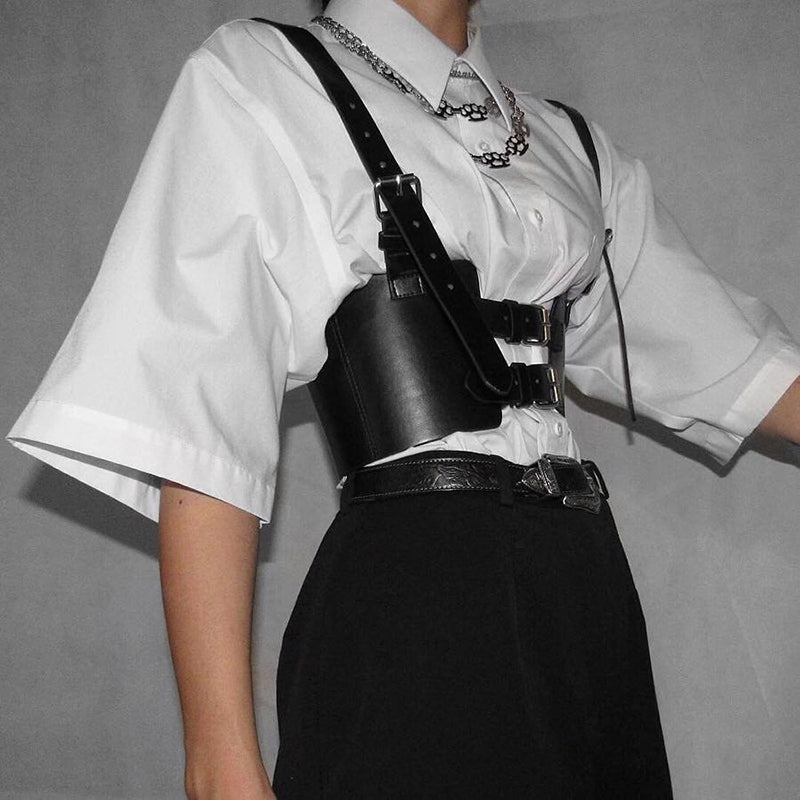 DARK RETRO WAIST SEAL BELT BY18009