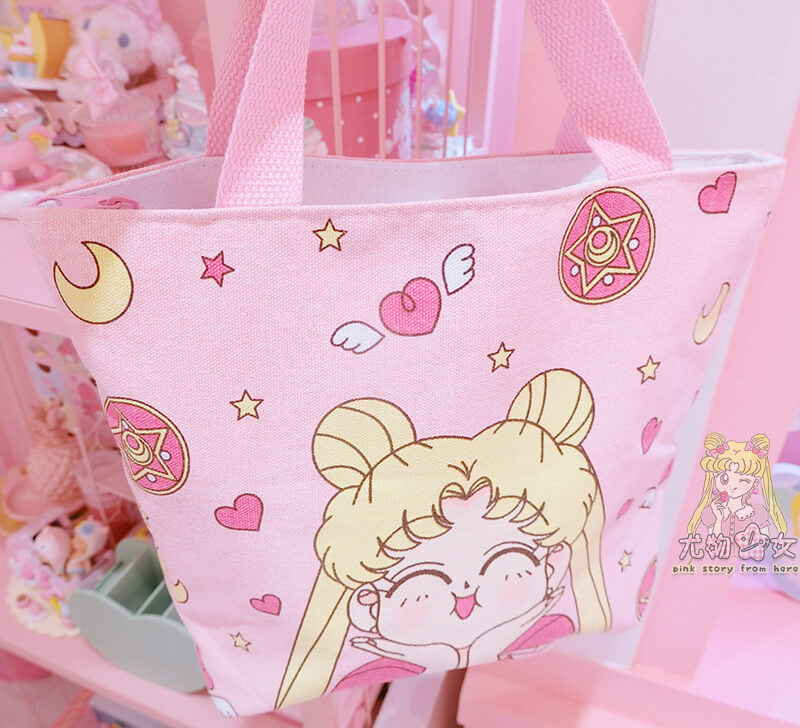 ''SAILOR MOON'' PINK CANVAS HANDBAG BY92022
