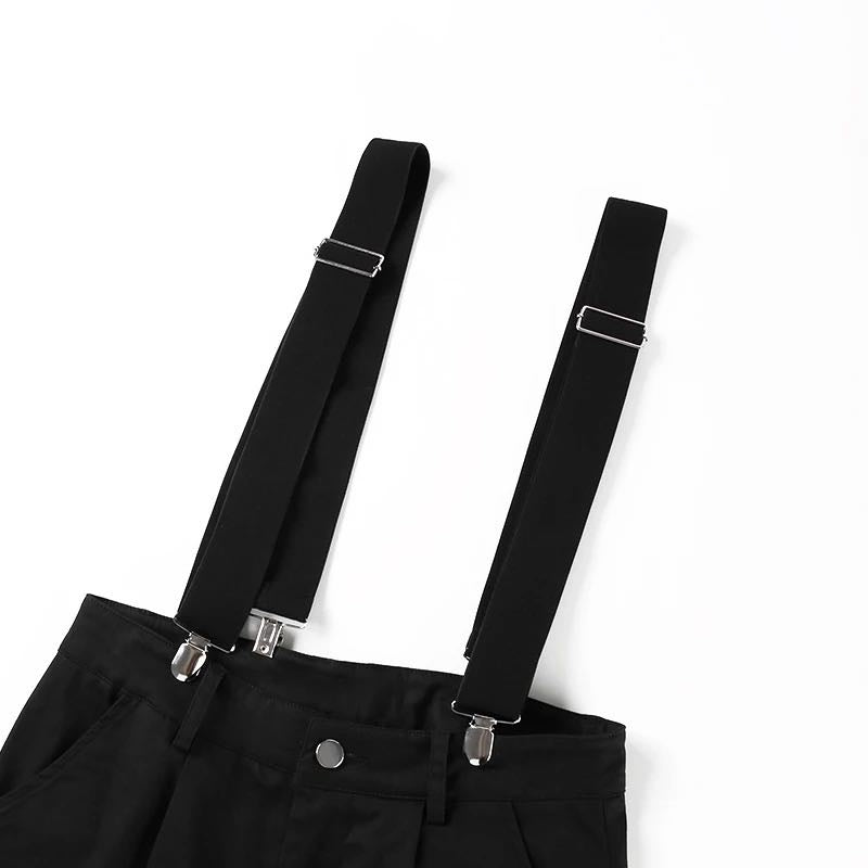 STREET FASHION BELT OVERALLS CASUAL PANTS BY63002