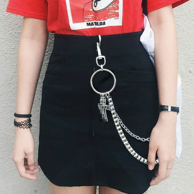 STREET FASHION METAL CHAIN WAIST ACESSORIES BY18007