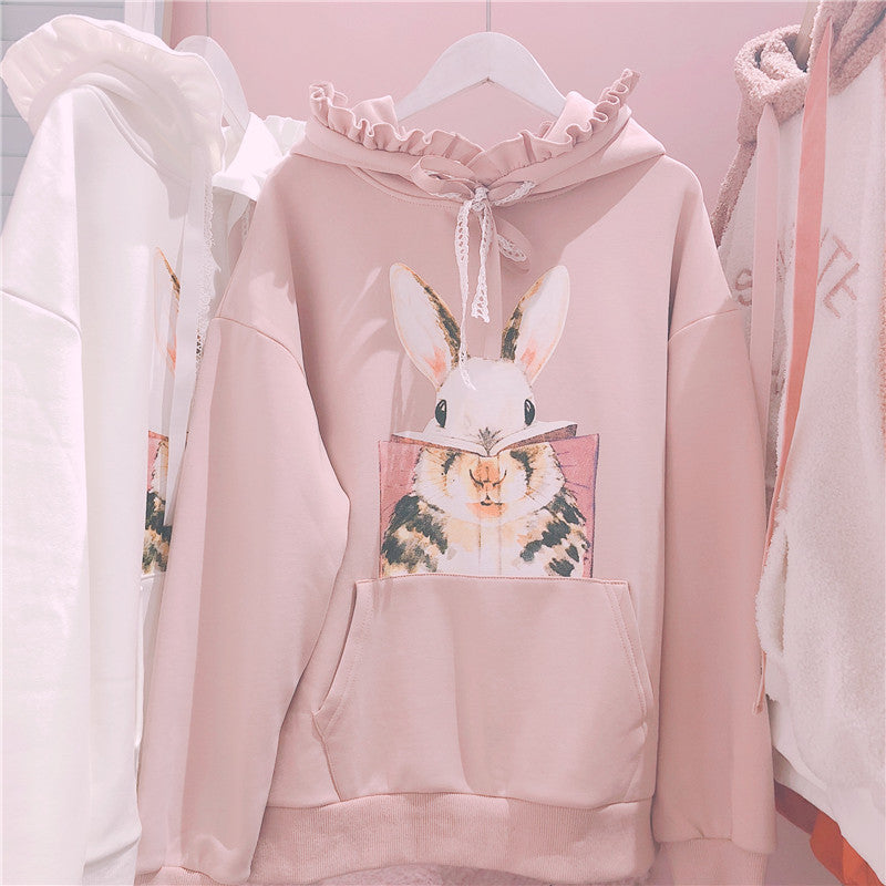 SWEET AND LOVELY BUNNY PRINT HOODIE BY23117
