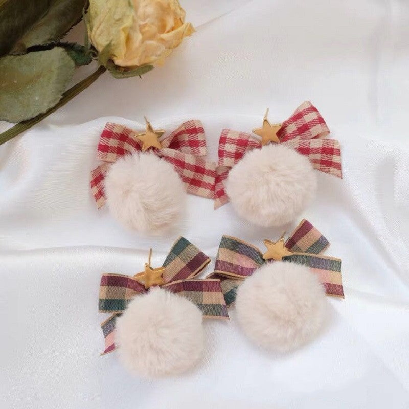 SWEET BOW STUD EARRINGS