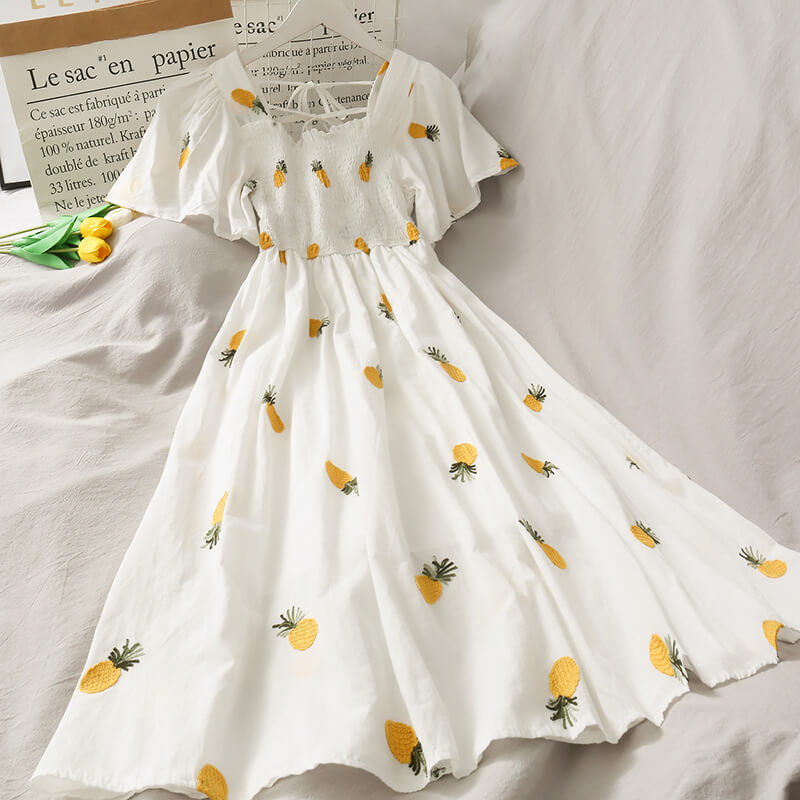 SWEET ''PINEAPPLE & STRAWBERRY & CHERRY'' DRESS BY61205