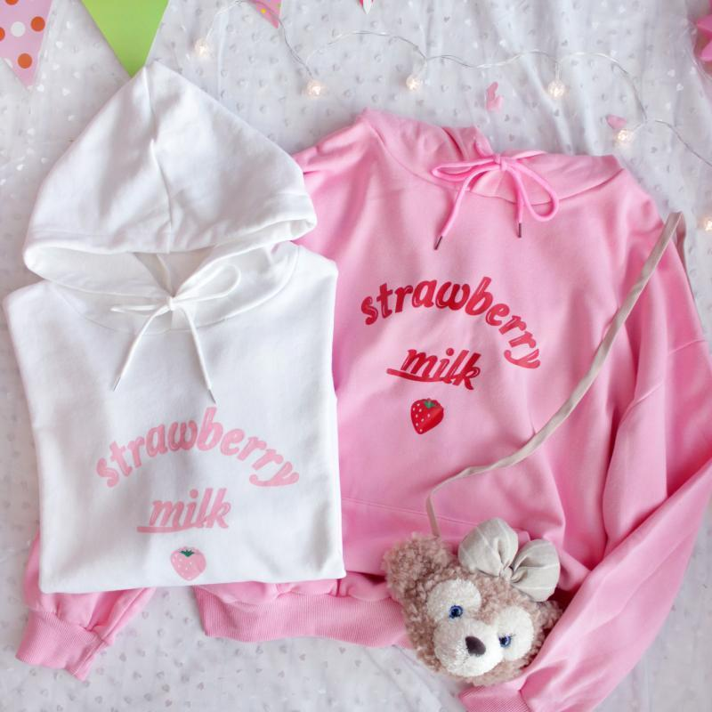 SWEET ''STRAWBERRY MILK'' HOODIE BY23105