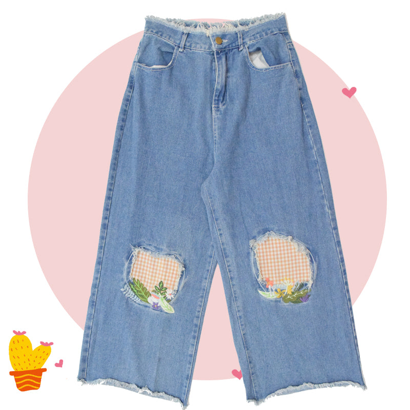 "CUTE ""PICNIC"" JEANS BY63110"