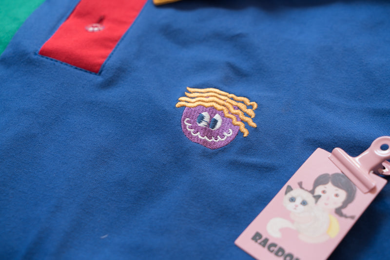 SUMMER LOOSE FUNNY POLO SHIRT BY22265