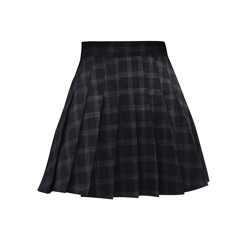 ULZZANG PLAID PLEATED SKIRT BY63130