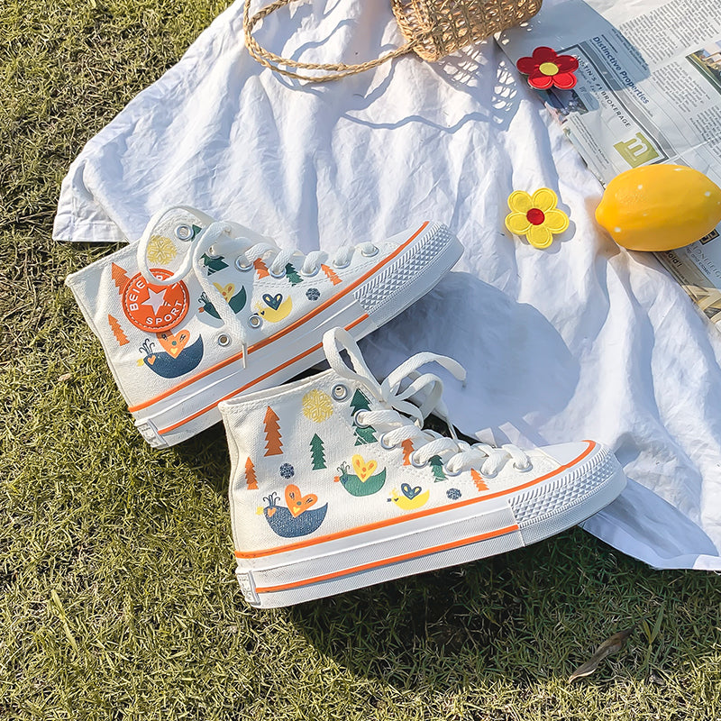 ULZZANG PRINT CANVAS SHOES BY81019