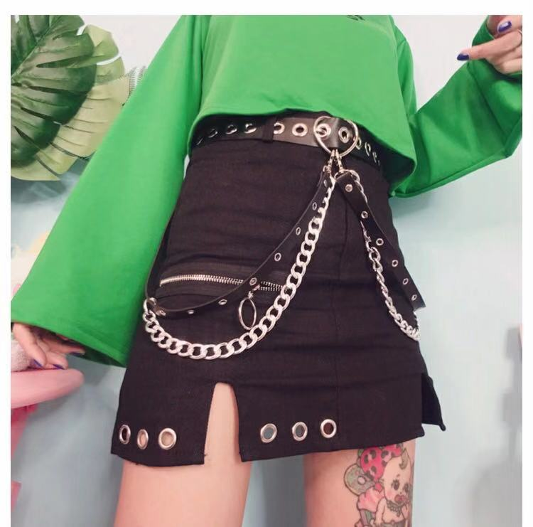ULZZANG PUNK HEART BELT BY18001