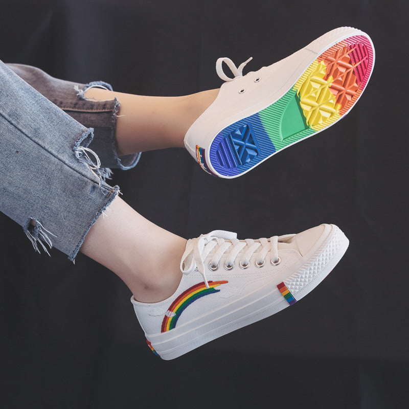ULZZANG RAINBOW CANVAS SHOES BY81015