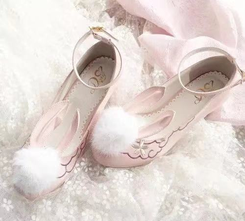 JAPANESE LOLITA CUTE RABBIT EAR SHOES BY50808