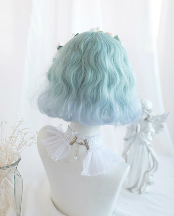 ''SEA SALT AND LIME'' GRADIENT SHORT CURLY WIG BY31127
