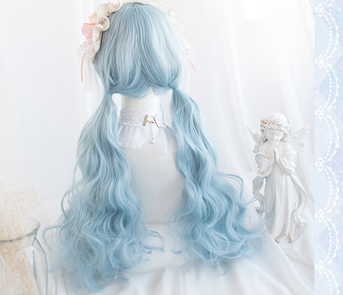 BLUE LONG CURLY WIG BY31128