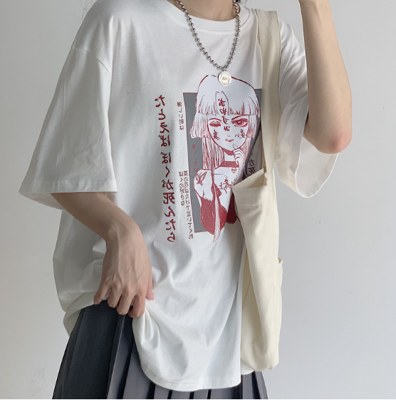 JAPANESE COMIC PRINT T-SHIRT BY22481