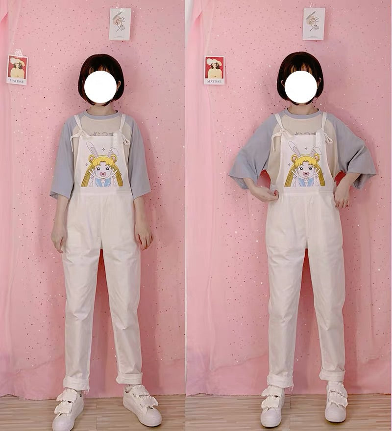 JAPANESE KAWAII GIRL OVERALLS PANTS BY30901