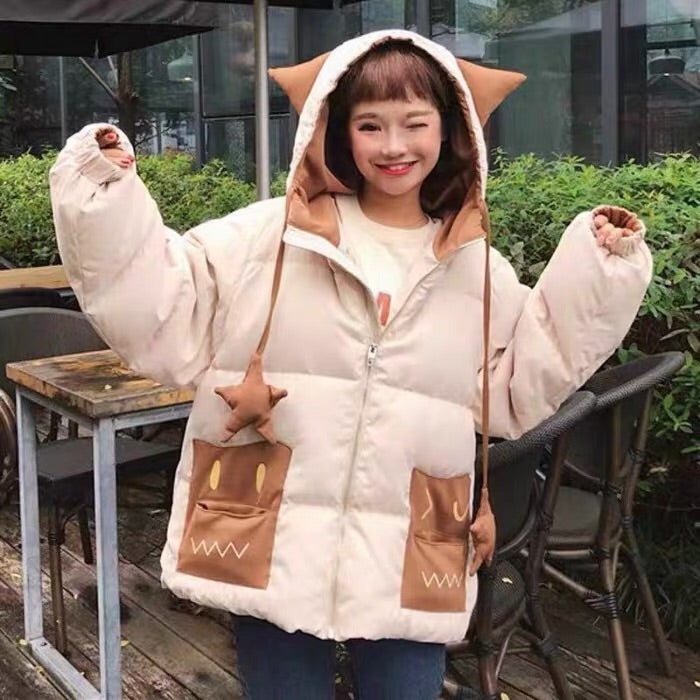 JAPANESE MONSTER HOODED THICK COAT BY24101