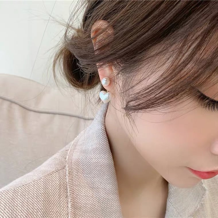 SWEET HEART PEARL EARRINGS BY96000