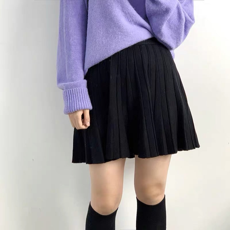 3 COLORS FASHION KNIT SKIRT BY61169