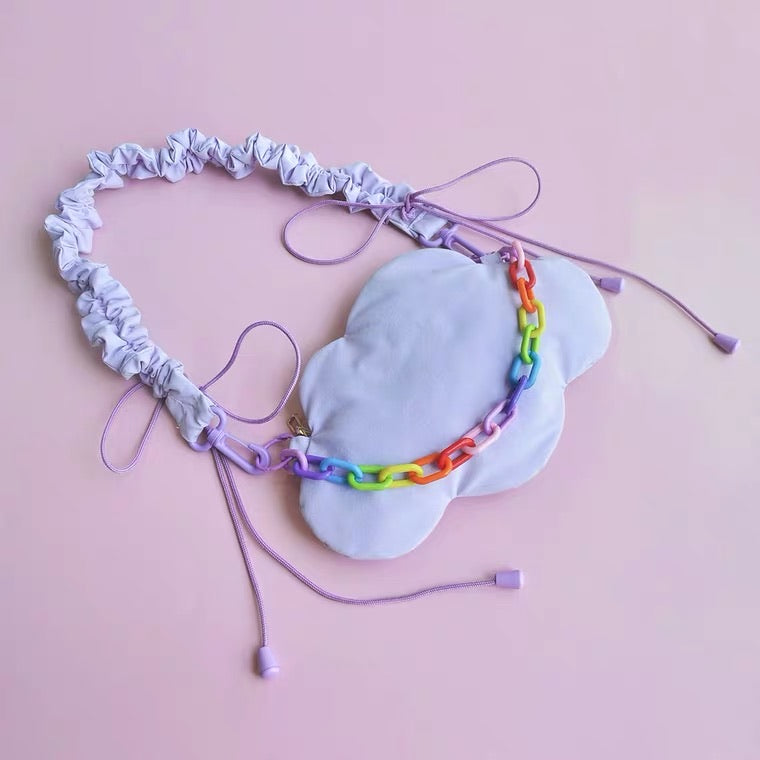 CUTE PASTEL PURPLE CLOUDS BAG BY20001