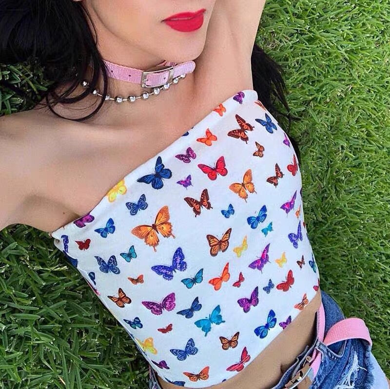 BUTTERFLY CROP TOP BY22604