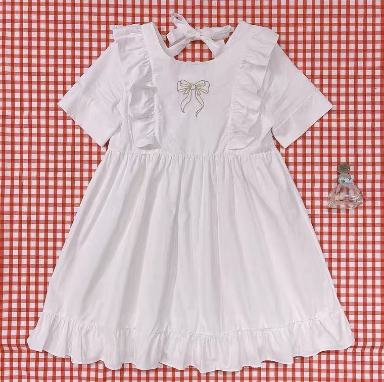 RETRO CUTE BOW EMBROIDERY PRINCESS DRESS BY50050