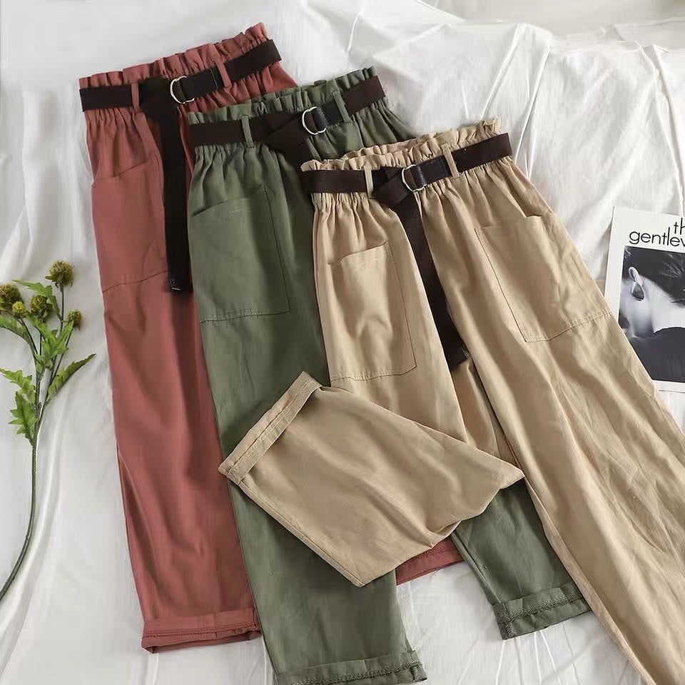 KOREAN FASHION HIGH WAIST CASUAL PANTS BY63049