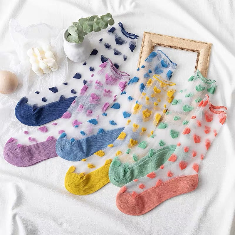 6 PAIRS INS SWEET LOVE SOCKS BY41902