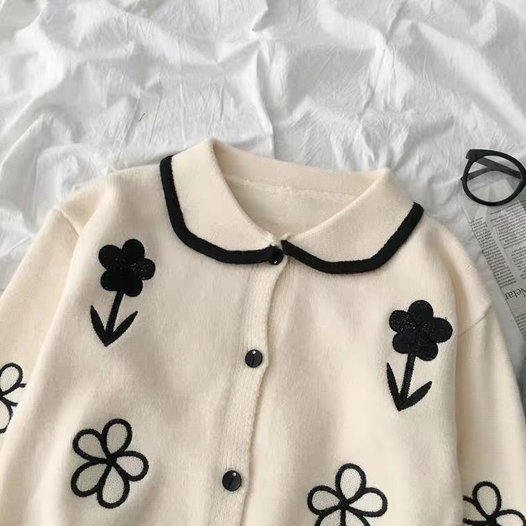 2020 NEW KOREAN FLOWER EMBROIDERY SWEATER BY99444