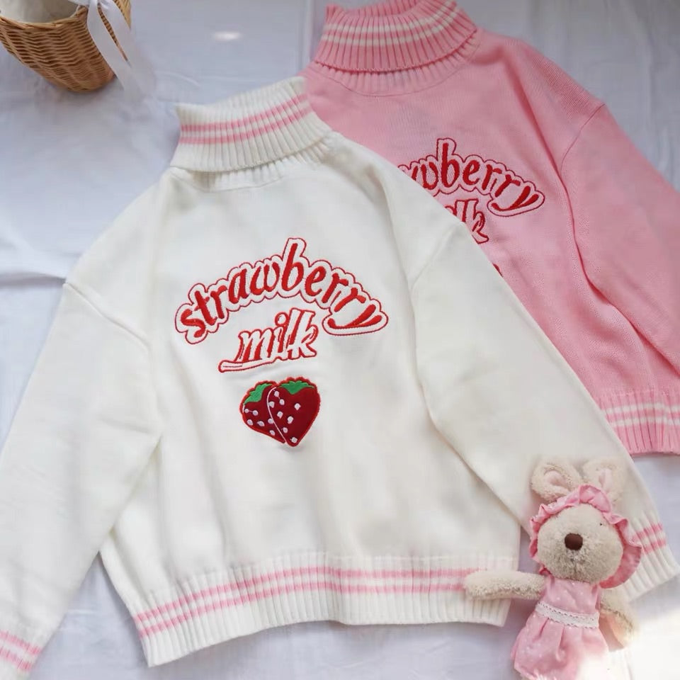 STRAWBERRY MILK SWEATER BY21124