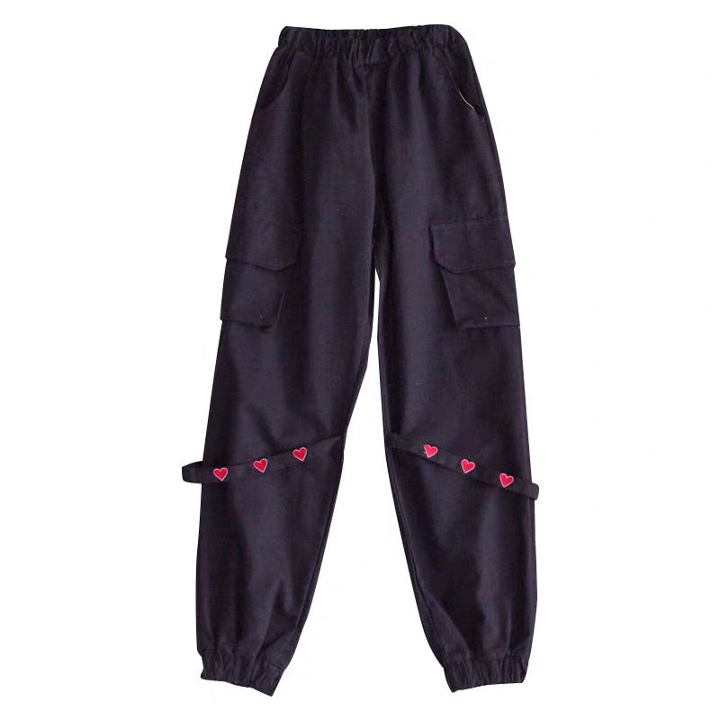HARAJUKU BF LOVE WAIST CASUAL PANTS BY30305