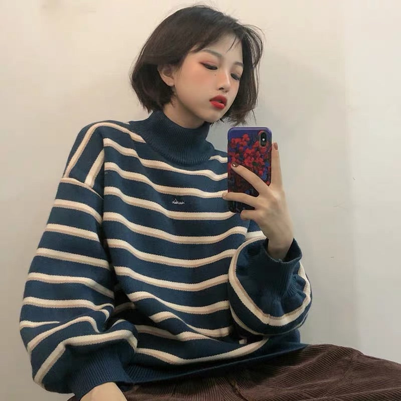 ULZZANG STRIPE SWEATER BY58888