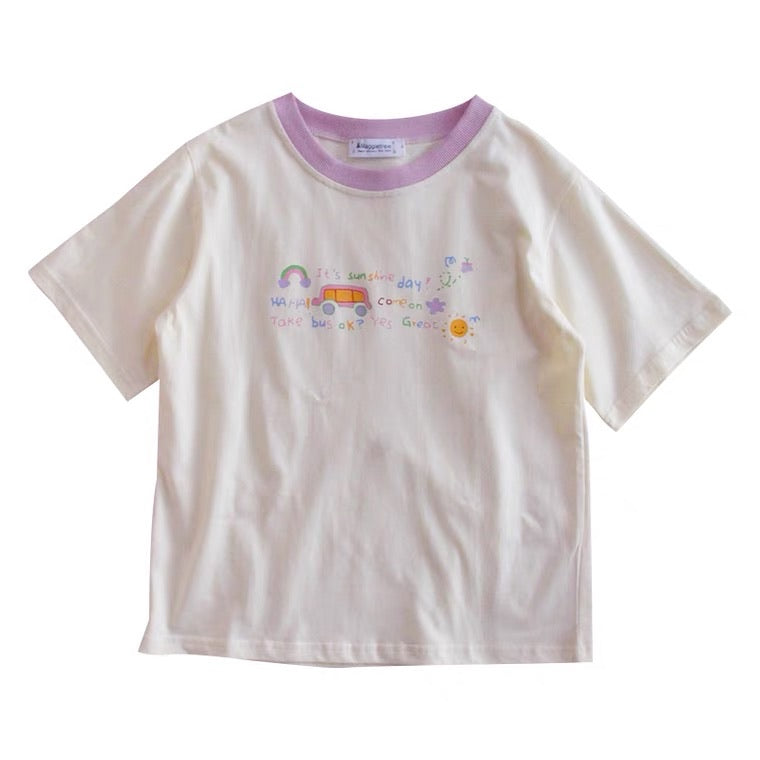 """IT'S SUNSHINE DAY"" CUTE SOFTGIRL T-SHIRT BY50081"