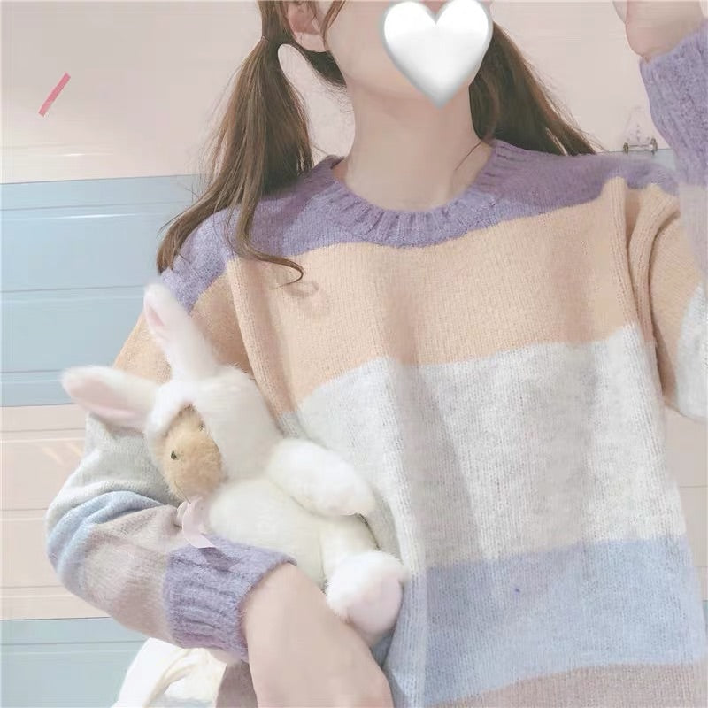 SOFT STRIPE SWEATER BY21888