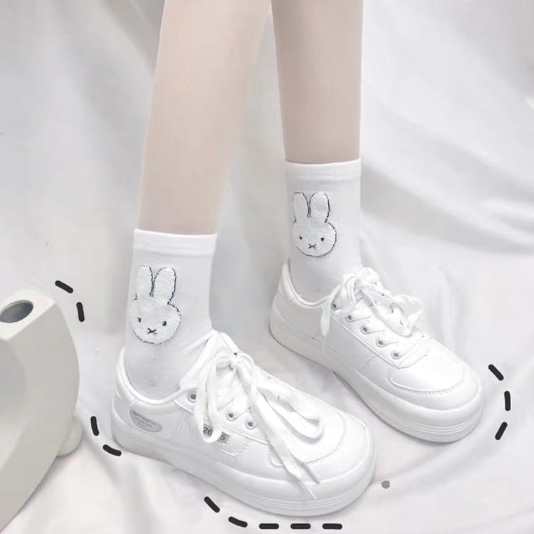 2 PAIRS CUTE BUNNY SOCKS BY64030