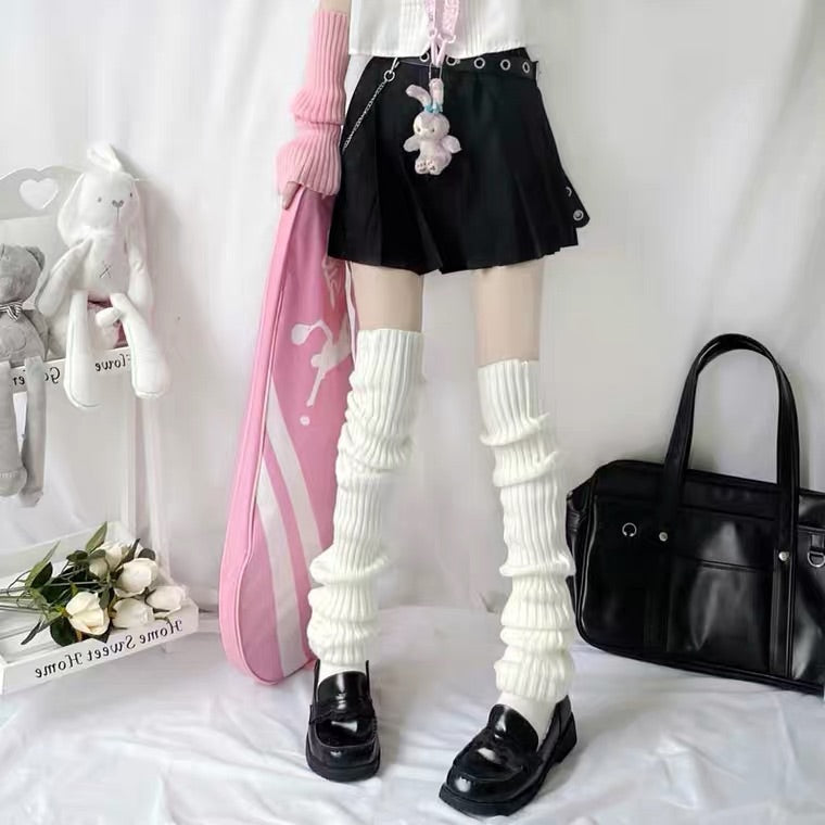 Japanese harajuku jk knit knee socks BY99888