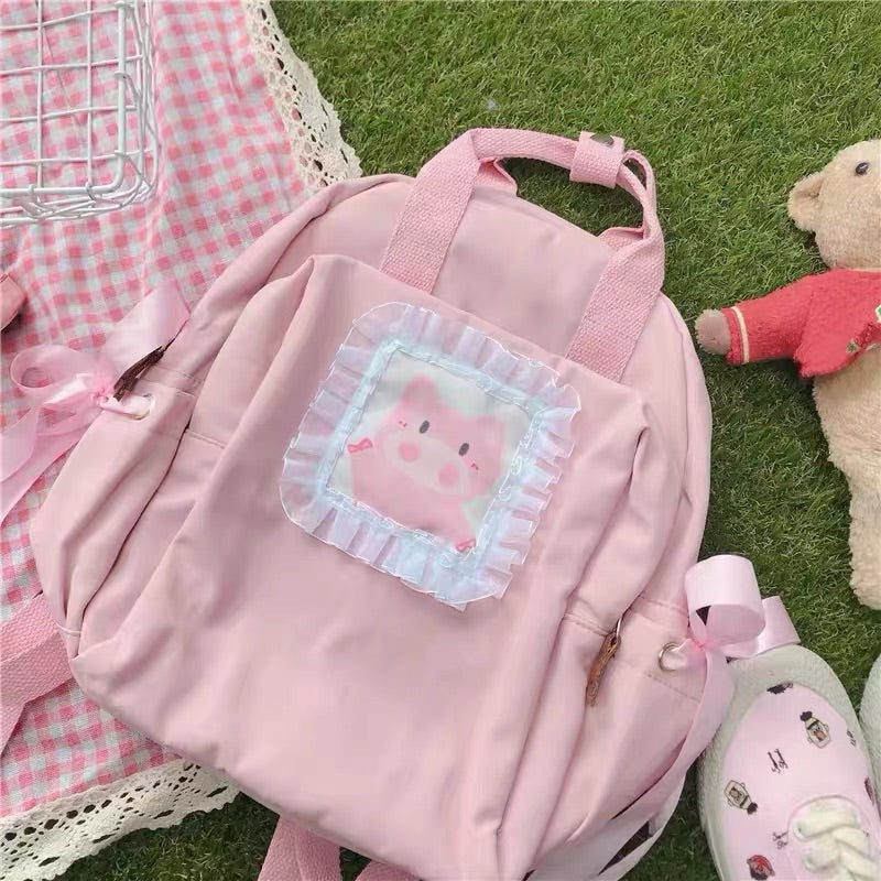 JAPANESE CUTE PIG PINK BACKPACK BY50402