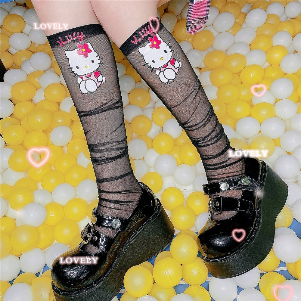 "CUTE ""HELLO KITTY"" SOCKS BY45555"