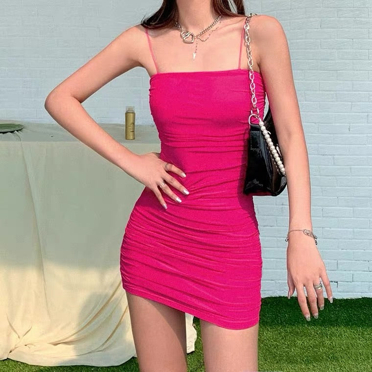 FRENCH STYLE SEXY HIGH WAIST SLIM SLING DRESS BY50035