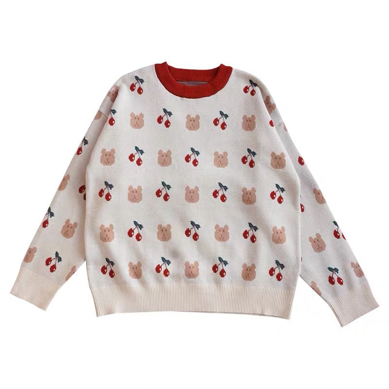 """BEAR & CHERRY"" SWEATER"