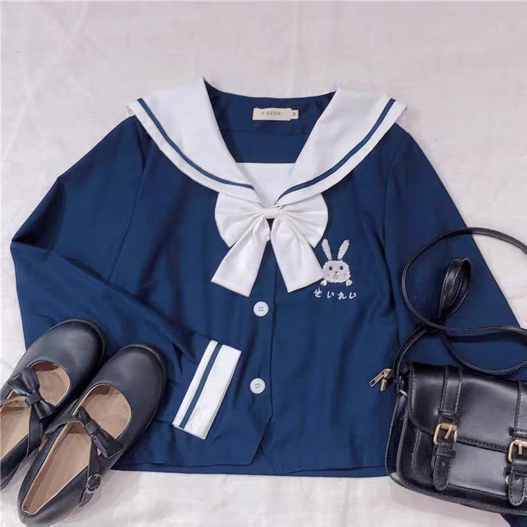 JAPANESE CUTE BUNNY JK COLLEGE STYLE SHIRT BY97666