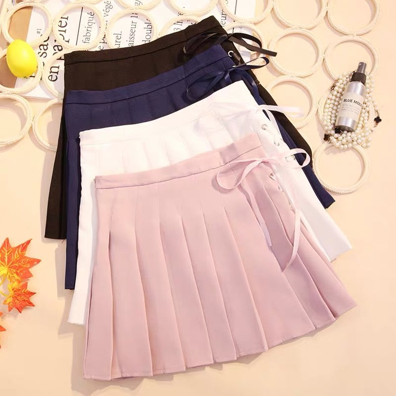 SWEET PREPPY STYLE HIGH WAIST PLEATED SKIRT BY61082