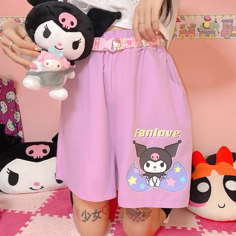 JAPANESE HARAJUKU CARTOON PRINT CUTE SOFTGIRL SHORTS BY50015