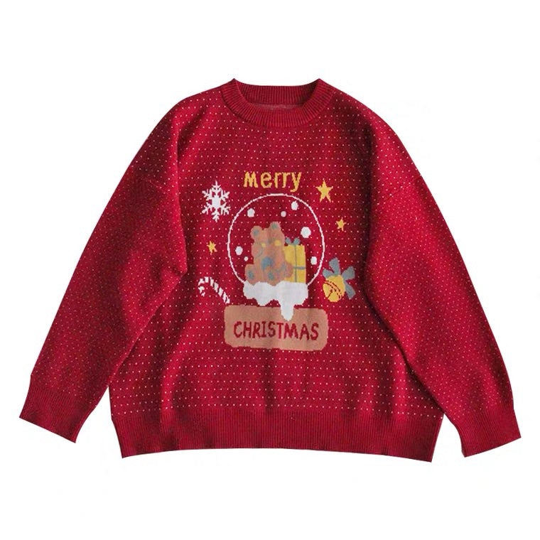 """MERRY CHRISTMAS"" CUTE SOFT SWEATER BY53333"
