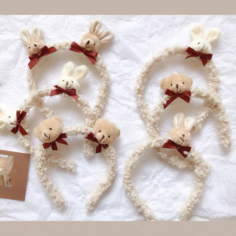 INS CUTE RABBIT WOOL HAIR HOOP BY42102