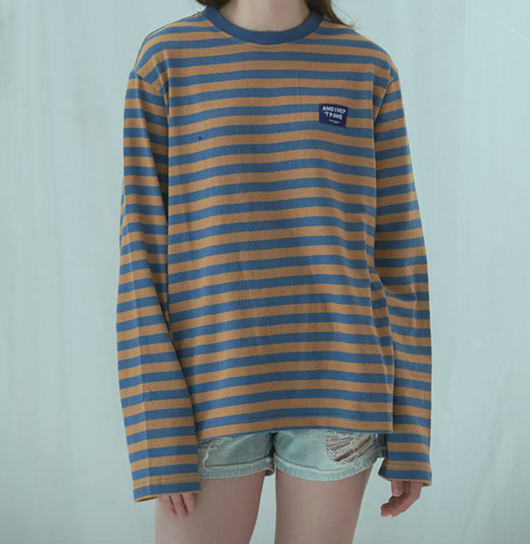 CHIC RETRO LOOSE STRIPE SHIRT BY22421