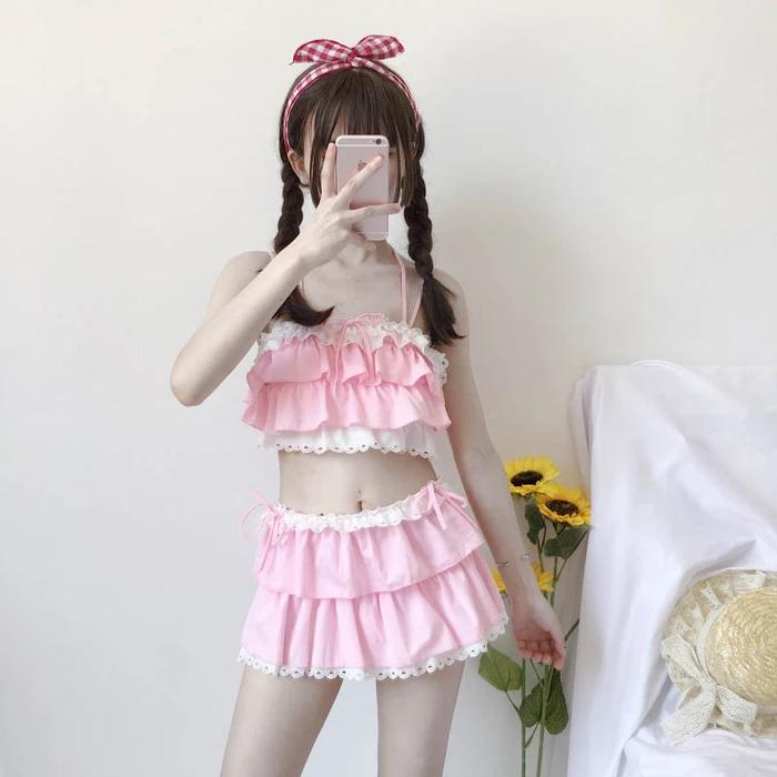 REVIEWS FOR JAPANESE SWEET AND LOVELY SWIMSUIT BY66008